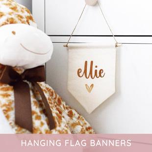 Hanging flag banner